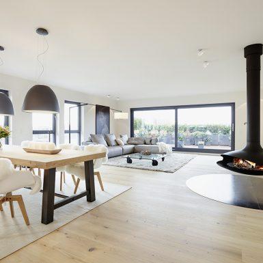 Penthouse loft bauhausstil innenarchitektur modern for Moderne innenarchitektur wohnzimmer