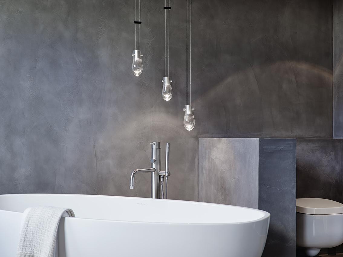 badplanung, bad, wanne, private-spa, freistehende wanne, doppelwaschtisch, holz, beton wand, fugenlos, Boden, Wände