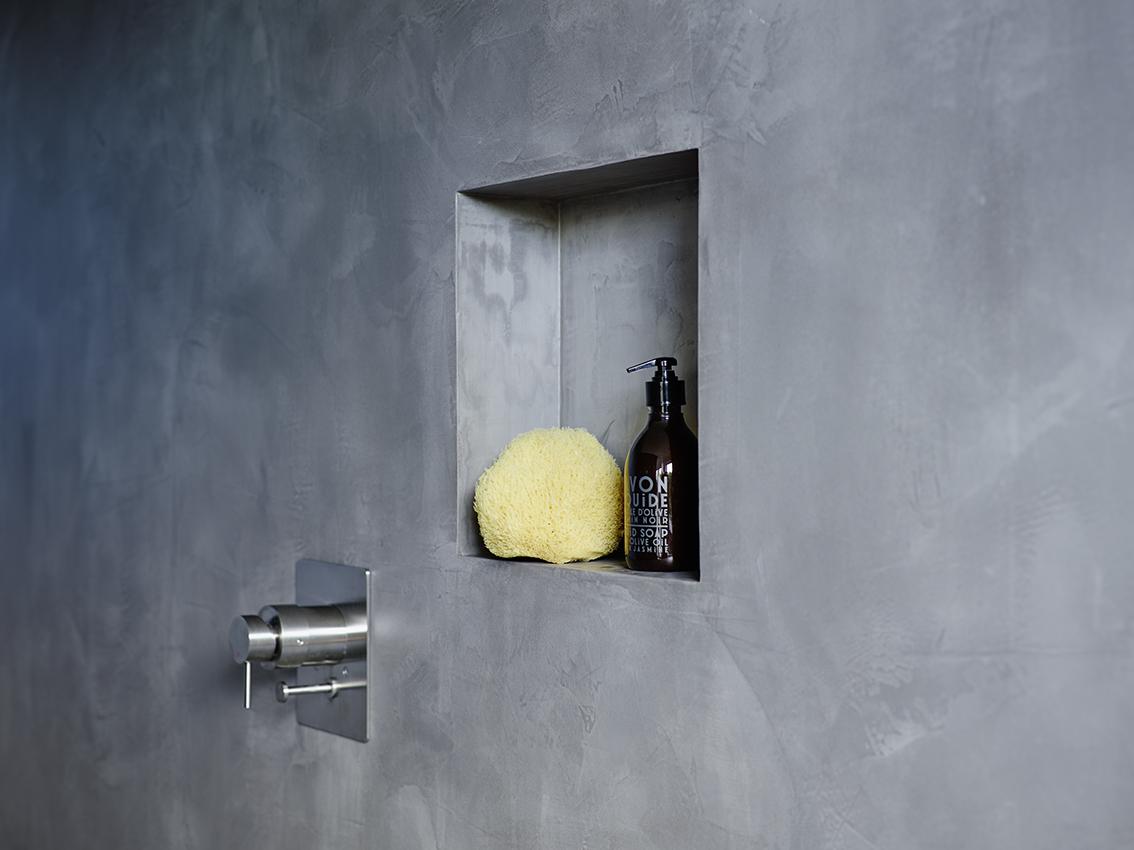 badplanung, bad, nische, private-spa, freistehende wanne, doppelwaschtisch, holz, beton wand, fugenlos, Boden, Wände