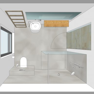 badplanung, bad, waschtisch, private-spa, freistehende , holz, beton wand, fugenlos, Boden, Wände