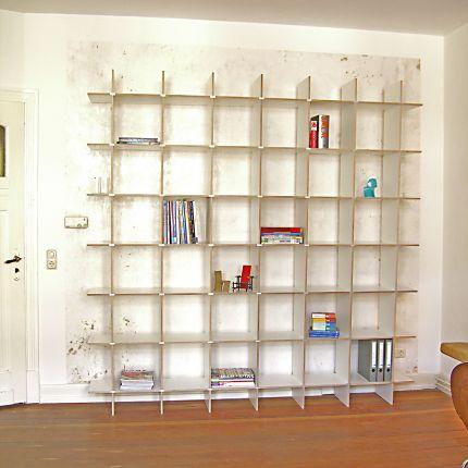 design regal anna c 2 in wei f r b cher ordner lp zum stecken. Black Bedroom Furniture Sets. Home Design Ideas