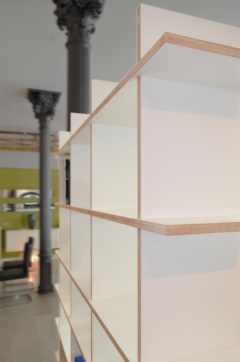 Hervorragend design regal anna + C_2 in weiß für bücher, ordner, LP - zum stecken NU62
