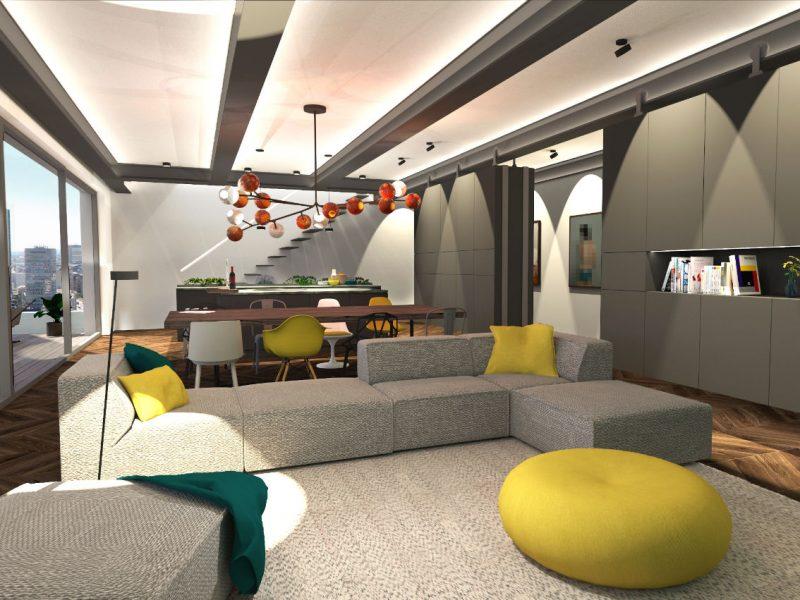 loft / penthouse in frankfurt